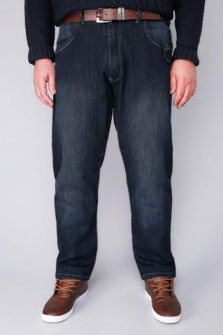Tapered D555 Blue Tapered Leg Stretch Jeans - TALL 101194