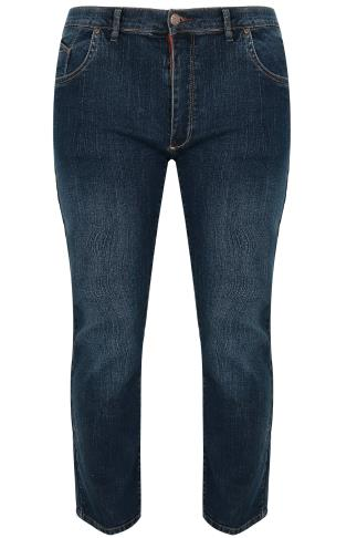 D555 Dark Blue Straight Leg Denim Jeans