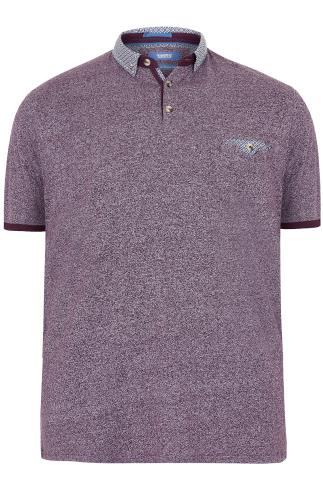 D555 Purple Diego Polo Shirt With Contrasting Collar