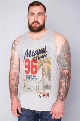 "D555 Grey ""Miami Florida 96"" Vest"