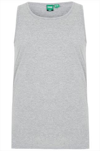 D555 Grey Marl Crew Neck Vest