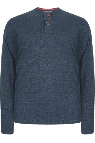 D555 Navy Long Sleeve Sweat Top