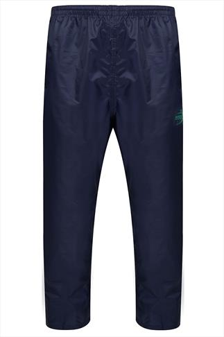 D555 Navy Packaway Waterproof OverTrousers