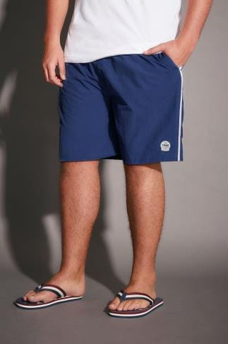 Swim Shorts D555 Royal Blue Full Length Swim Short 057688