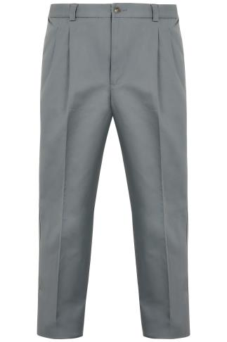 Dark Grey Trousers With Pleats