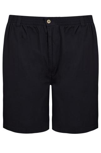 Dark Navy Chino Shorts With Elasticated Waist Band