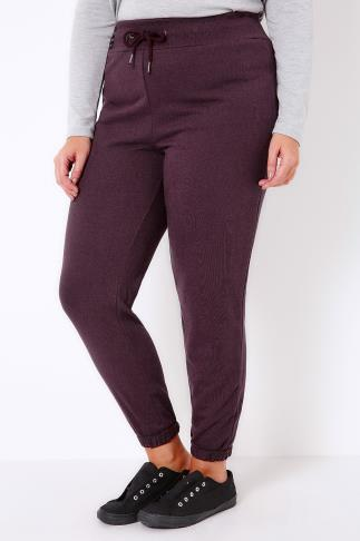 Joggers Full Length Dark Purple Roll Cuff Joggers 100744