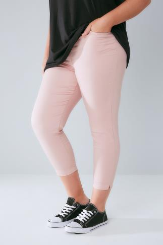 Dusty Pink Cropped Denim Jeggings 144021