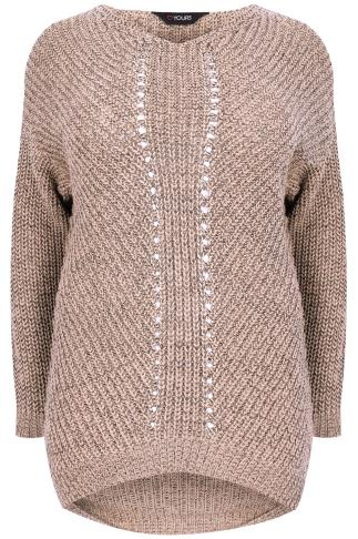 Dusty Rose Pink Cosy Knit Jumper With V-Neck