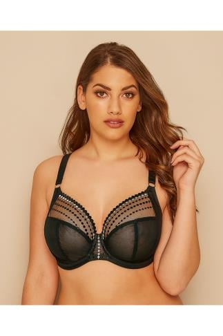 Wired Bras ELOMI Black & White Mesh Matilda Bra 146018