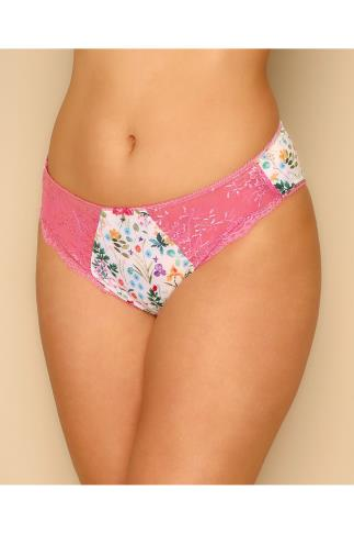 Briefs ELOMI White & Multi Floral Print Maya Briefs 146026
