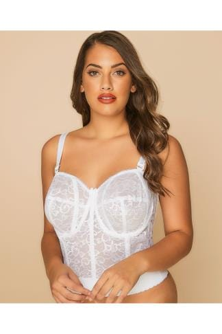 Bustiers GODDESS White Lace Bustier 014041