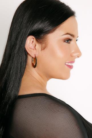 Gold Beaten Chunky Hoop Earrings