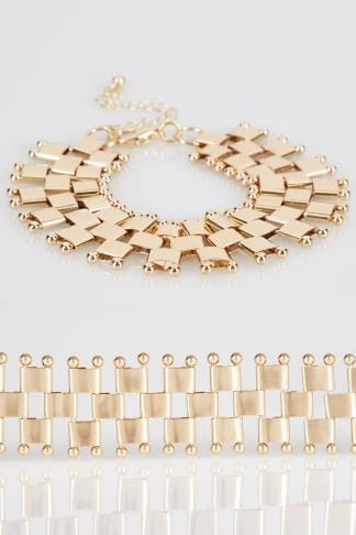 Jewellery Gold Chain Link Bracelet 102767