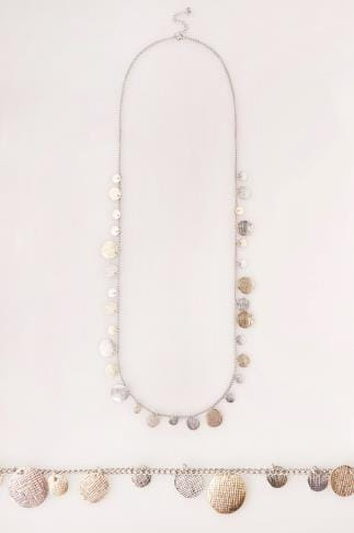 Ketten Gold & Silver Long Coin Necklace 152179