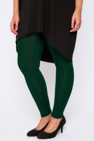 "Green Viscose Elastane Full Length - 28"" Leg"