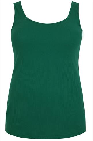 Green Wide Rib Cotton Vest