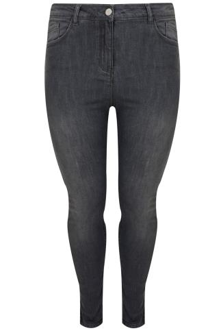 Grey Denim SHAPER Skinny Jeans