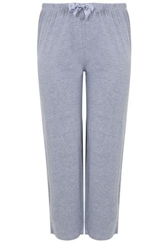 Grey Marl Plain Pyjama Bottoms