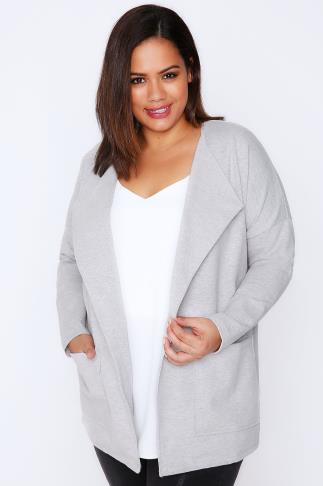 Grey Marl Soft Blazer Jacket