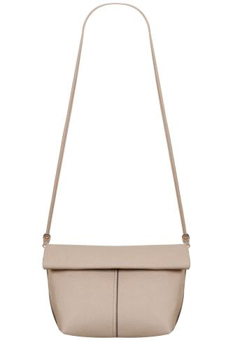 Grey & Nude Reversible Roll Top Bag With Detachable Straps 101360
