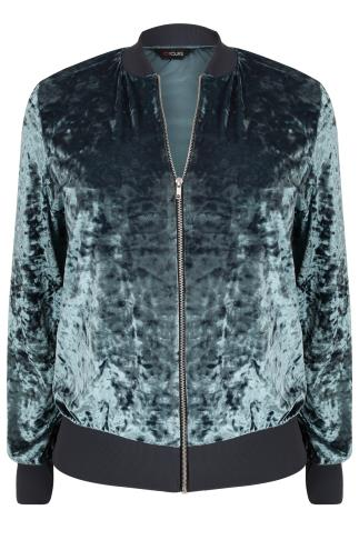 Grey Velvet Bomber Jacket