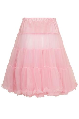 HELL BUNNY Dolly Pink Petticoat Flare Skirt