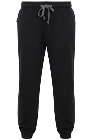 HENLEYS Black Joggers With Drawstring Waist