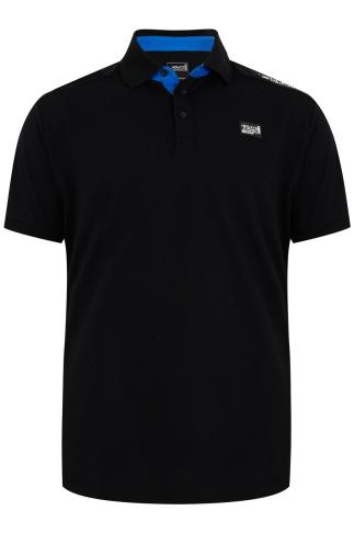 HENLEYS Black Short Sleeve Polo Shirt