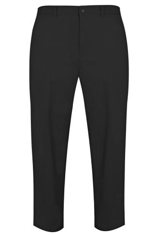 Chinos & Cords Black Chino Trousers 200019