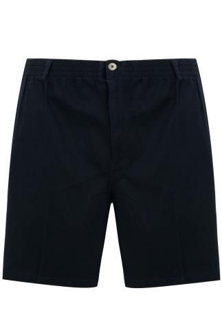 Harbour Bay Black Shorts With Elasticated Waist