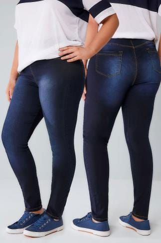 Push up Indigo Blue Pull On Stretch SHAPER Jeggings 055456