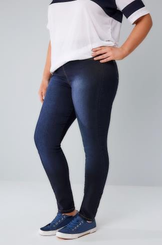 Shaper Jeans Indigo Blue Denim SHAPER Jeggings 055456
