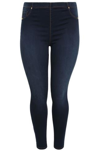 Indigo Blue Pull On Stretch Jeggings