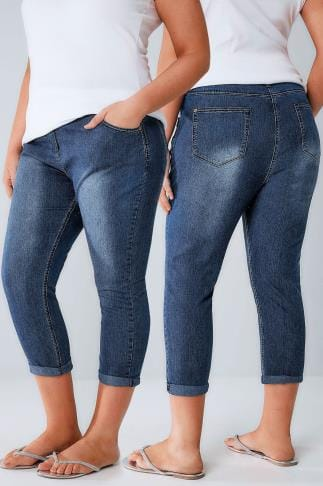 Cropped Jeans Indigo Denim Cropped Jeans 144018