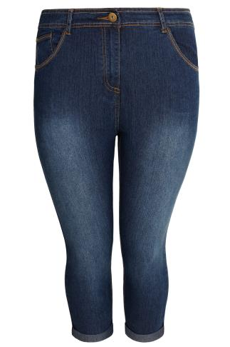 Indigo Denim Cropped Jeans