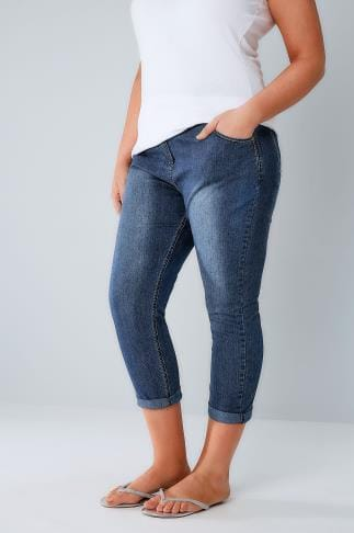 Denim Crops Indigo Denim Cropped Jeans 144018