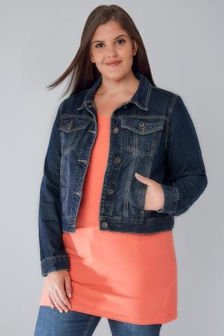 Denim Jackets Indigo Denim Jacket With Front Pockets 102868