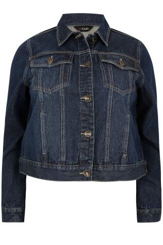 Indigo Denim Jacket With Front Pockets