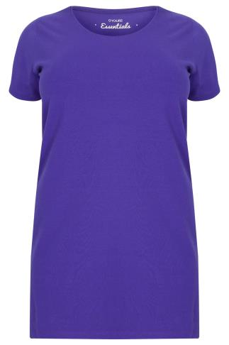 Indigo Longline T-Shirt With Scooped Neck