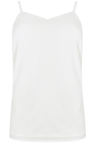 Ivory Cami Top With Side Split Detail
