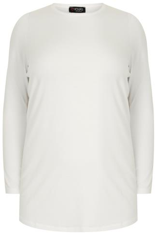 Ivory Long Sleeve Soft Touch Jersey Top
