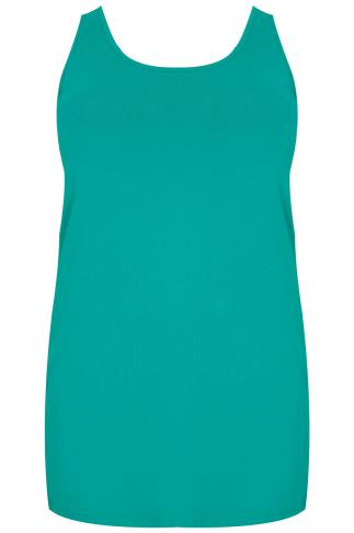 Jade Green Longline Vest Top
