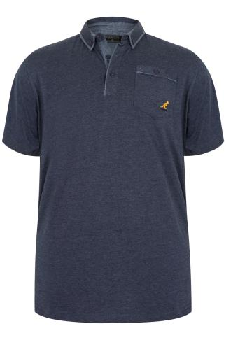 KANGOL Blue Short Sleeved Polo Top