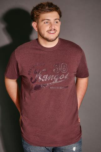 T-Shirts KANGOL Burgundy Short Sleeve T-Shirt 110297