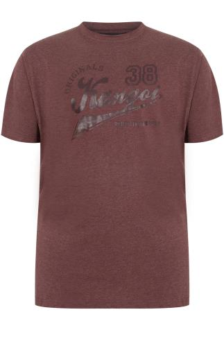 KANGOL Burgundy Short Sleeve T-Shirt