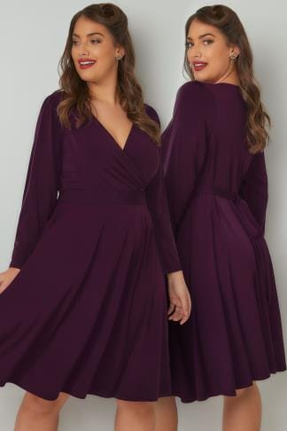 Sleeved Dresses LADY VOLUPTUOUS Purple Lyra Dress 138739
