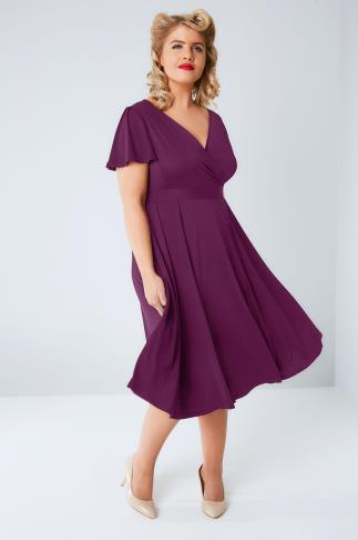 Party Dresses LADY VOLUPTUOUS Purple Lyra Wrap Dress 138392