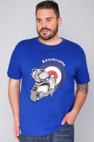 T-Shirts LAMBRETTA Blue Short Sleeve Crew Neck T-Shirt 101859