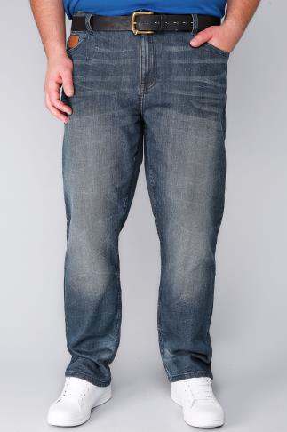 Straight LAMBRETTA Blue Wash Jeans 101863